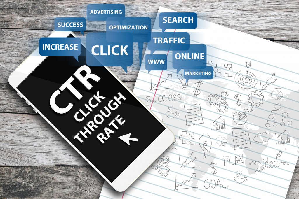 Click Through Rate. Business concept.
